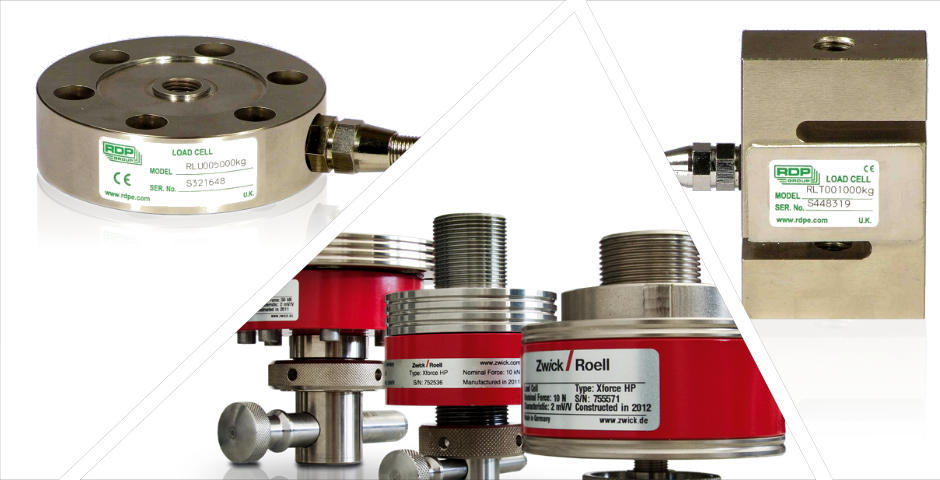 load cell montage rdp zwick Calibrated by Sercal